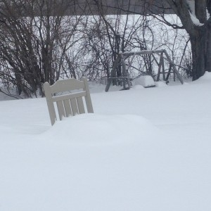 Rocking Chair measures snowfall