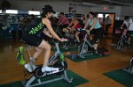Spinning® class at First in Fitness.