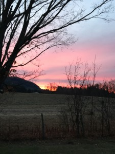 Sunrise Barre Town Vermont late November 2015