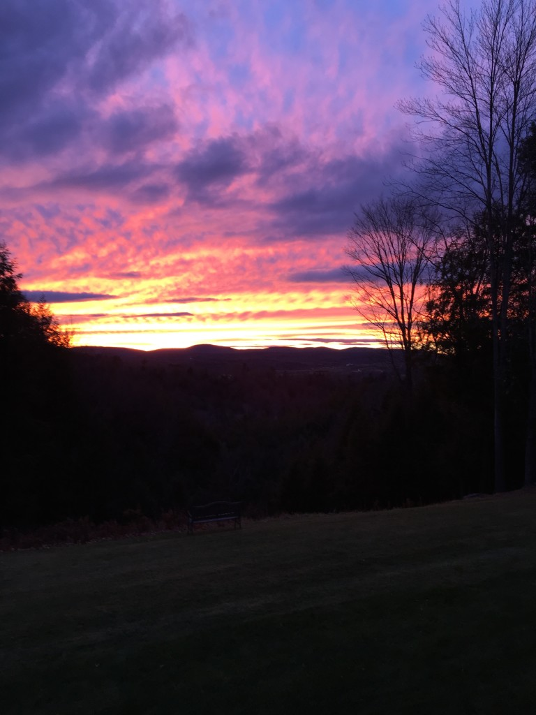 Pause for a glorious sunset as well. Barre Town, Vermont 2015