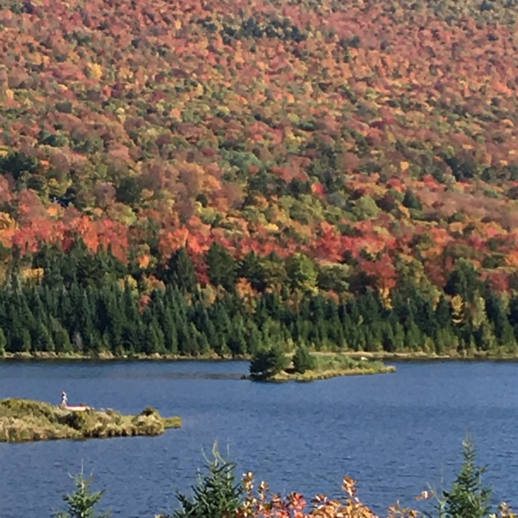 October at Blueberry Lake in Warren, Vermont. L. Freeman
